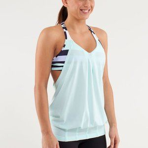Lululemon Practice Freely Tank Heathered Aquamarin